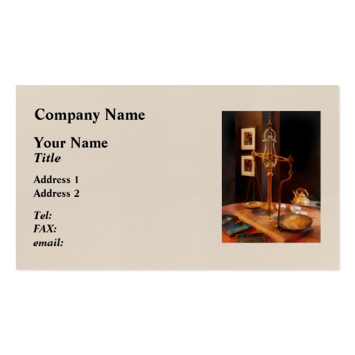 Tea Scale Double-Sided Standard Business Cards (Pack Of 100)