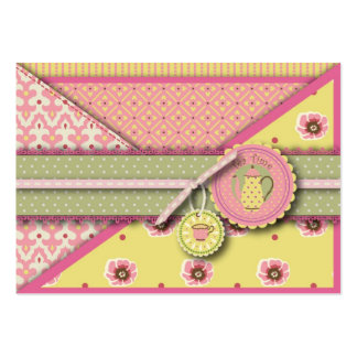 Tea Service Gift Tag Business Card Template