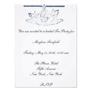 Tea Set Bridal Tea Party Invitation