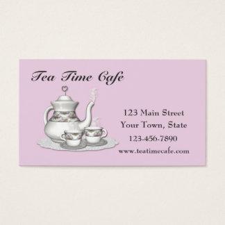 Tea Set Pink Business Card