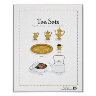 TEA SETS, Indian/Arabian, 8X10 Poster