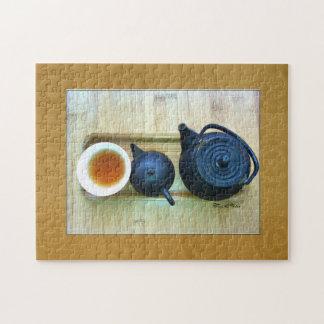 Tea Setting Photograph Overhead View Jigsaw Puzzle