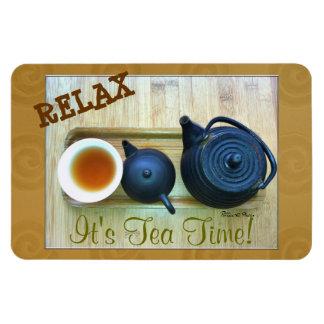 Tea Setting Photograph Overhead View Magnet