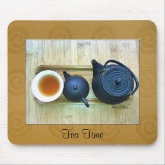 Tea Setting Photograph Overhead View Mouse Pad