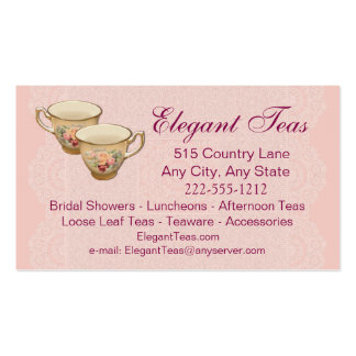 Tea Shoppe Tea House Card optional Loyalty Punch
