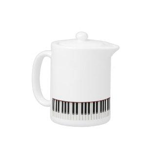 """Tea-sing the ivories"" - Piano Motif Tea pot"