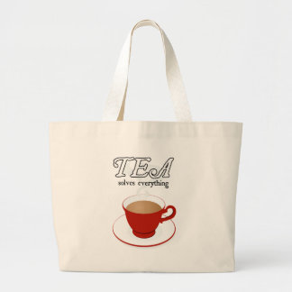 Tea Solves Everything Jumbo Tote Bag