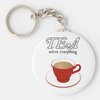 Tea Solves Everything Basic Round Button Keychain