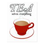 Tea Solves Everything Postcard