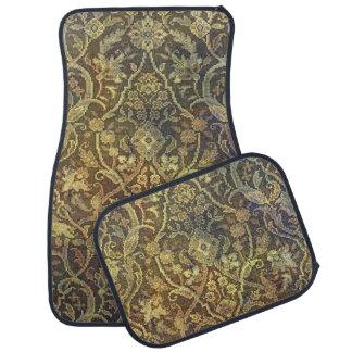 Tea Stained Vintage Pattern Car Floor Mat