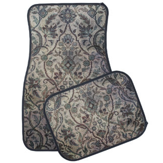 Tea Stained Vintage Pattern Car Mat