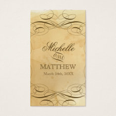 Tea Stained Vintage Wedding 1 - Favor Gift Tags at Zazzle