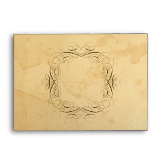 Tea Stained Vintage Wedding 1 - Matching Envelopes