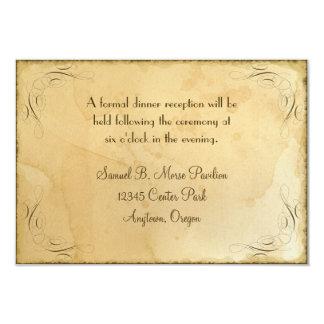 Tea Stained Vintage Wedding 1 - Reception Invite