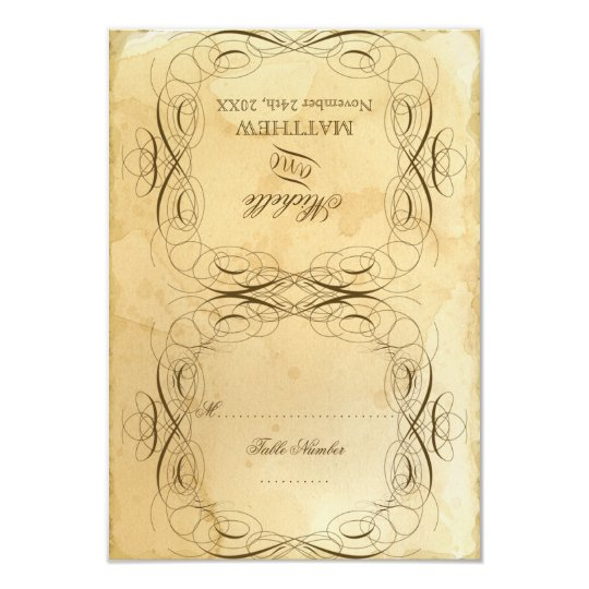 Tea Stained Vintage Wedding 1 - RSVP Response Card