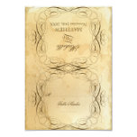 Tea Stained Vintage Wedding 1 - RSVP Response Card Personalized Announcements