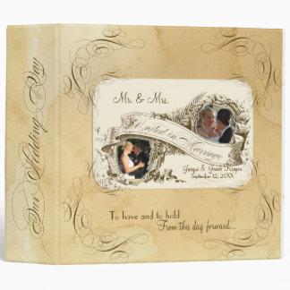 Tea Stained Vintage Wedding 1 - Wedding Photo Binder
