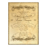 Tea Stained Vintage Wedding 2 - Bridal Shower Personalized Announcement