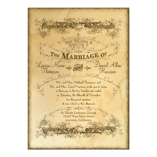 Styles and Design of Vintage Wedding Invitations