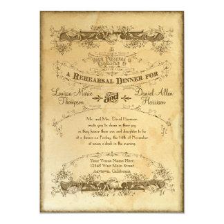 Tea Stained Vintage Wedding 2 -Rehearsal Dinner Card