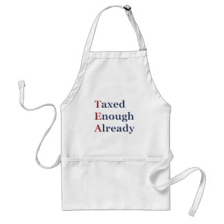 TEA - Taxed Enough Already Adult Apron