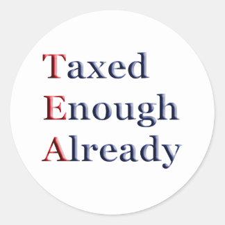 TEA - Taxed Enough Already Classic Round Sticker