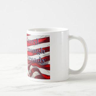 TEA - Taxed Enough Already Flag Background Coffee Mug