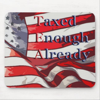 TEA - Taxed Enough Already Flag Background Mouse Pad