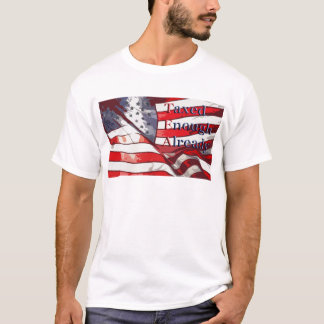TEA - Taxed Enough Already Flag Background T-Shirt