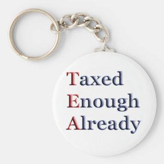 TEA - Taxed Enough Already Keychain