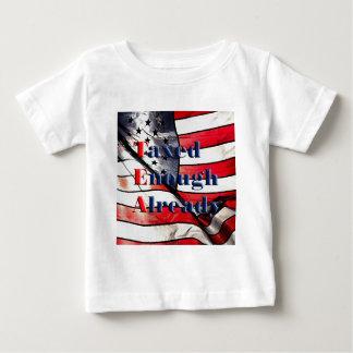 TEA - Taxed Enough Already on Flag Background Baby T-Shirt