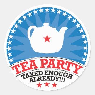 TEA, Taxed Enough Already Party Classic Round Sticker