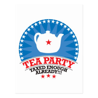 TEA, Taxed Enough Already Party Postcard