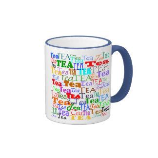 Tea Tea Tea! Ringer Coffee Mug