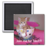 Tea time 2 inch square magnet
