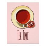 """Tea Time 4.25"""" X 5.5"""" Invitation Card"""