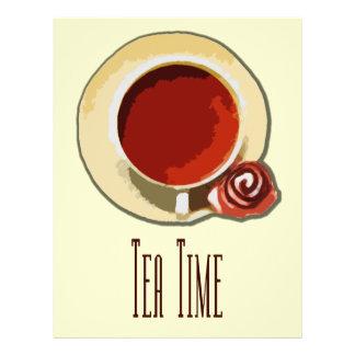 """Tea Time 8.5"""" X 11"""" Flyer"""