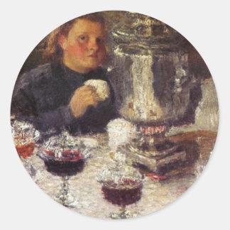 Tea Time: A Samovar by Igor Grabar Classic Round Sticker