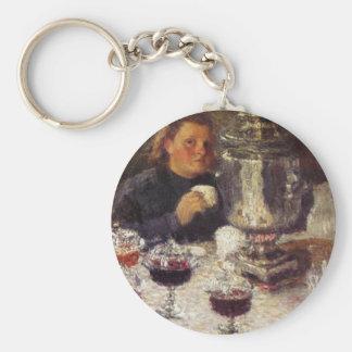 Tea Time: A Samovar by Igor Grabar Keychain