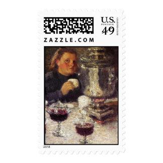 Tea Time: A Samovar by Igor Grabar Stamp
