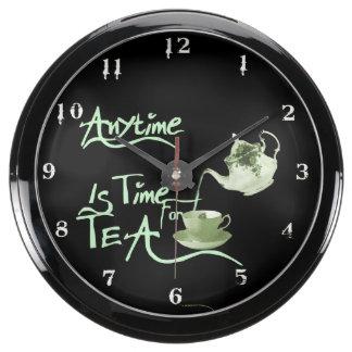 Tea Time Aquarium Clock
