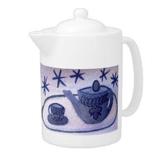 ...tea time...art by Jutta Gabriel... Teapot