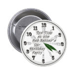Tea Time at the Mad Hatter's Un-Birthday Party Pinback Buttons