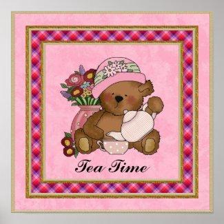 Tea Time Bear poster