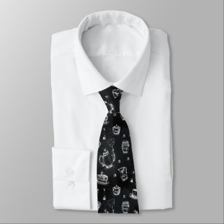 Tea Time Black•Double-Sided Neck Tie
