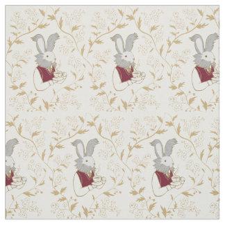 Tea Time Bunny Custom Fabric