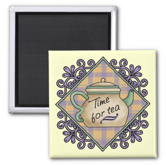 Tea Time Cards, Postage, Tees, GIfts Magnet
