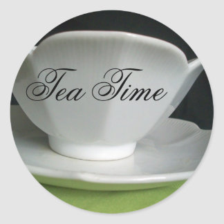 Tea Time Classic Round Sticker