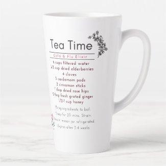 Tea Time Cold & Flu Elixir Latte Mug