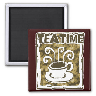 Tea Time Cup with Steam Refrigerator Magnet
